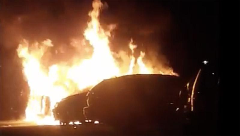 Bilbränder i Ronneby