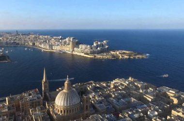 Valletta, vy över Maltas huvudstad.