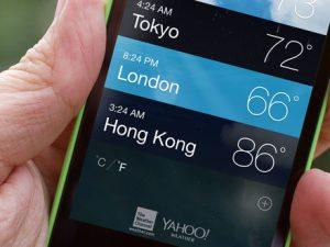 Temperatur i mobilen
